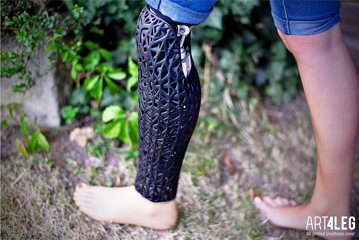 NATURE Customized 3D Printed prosthetic leg cover