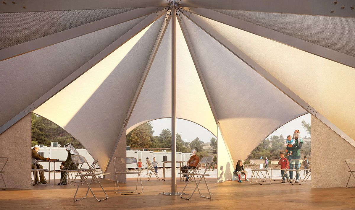 ... UN International Organization for Migration Maidan Tent will allow refugees to benefit from indoor public space u2013 a communal area to counteract the ... & MAIDAN TENT u2013 example of humanitarian architecture u2013 SnupDesign