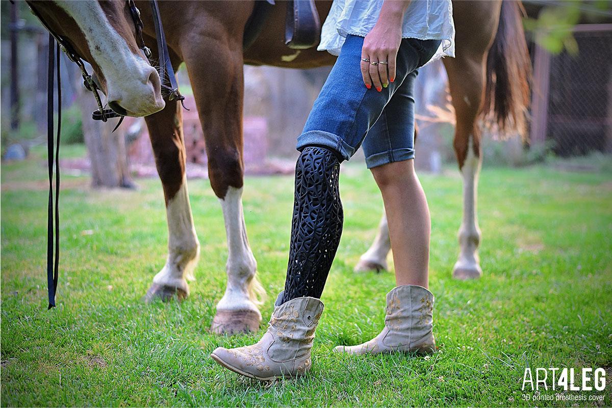 NATURE Customized 3D Printed prosthetic leg cover